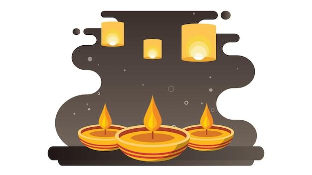 Felice diwali illustrazione sfondo