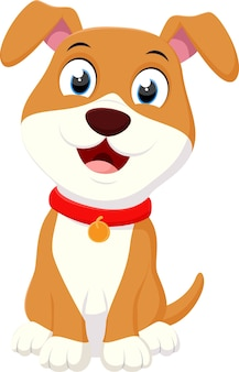 Cartone animato happy dog