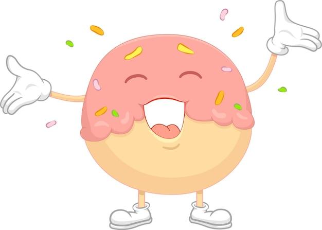 Personaggio happy donut in scarpe da ginnastica