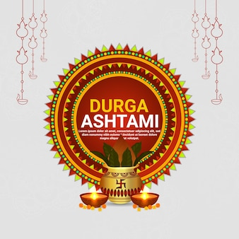 Cartolina d'auguri felice di celebrazione dell'ashtami di durga