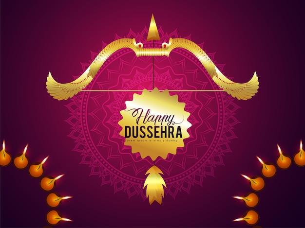 Cartolina d'auguri felice celebrazione dussehra