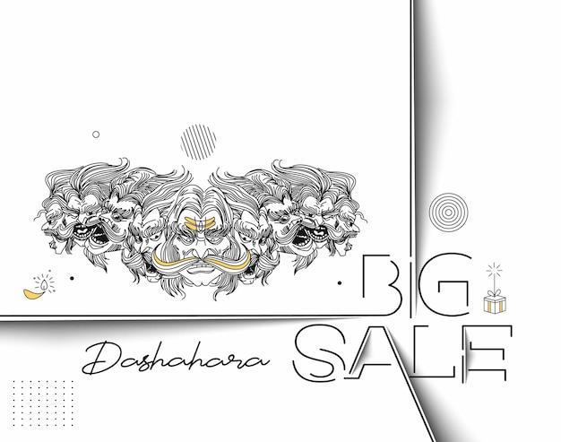 Happy dussehra celebration text big sale banner