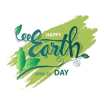Felice giorno della terra. 22 aprile