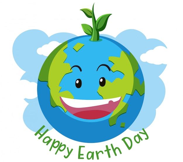 Concetto di giorno della terra felice
