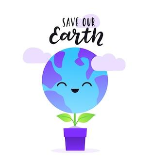 Felice festa internazionale della giornata della terra.
