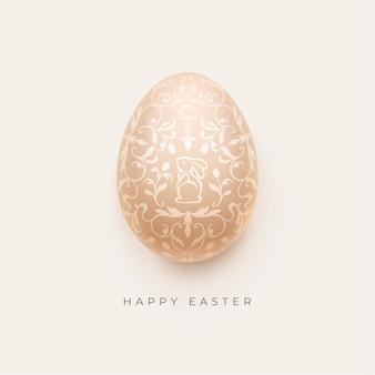Fondo felice di pasqua con l'uovo di pasqua decorativo