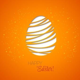 Buona pasqua ha decorato l'uovo di carta della carta.