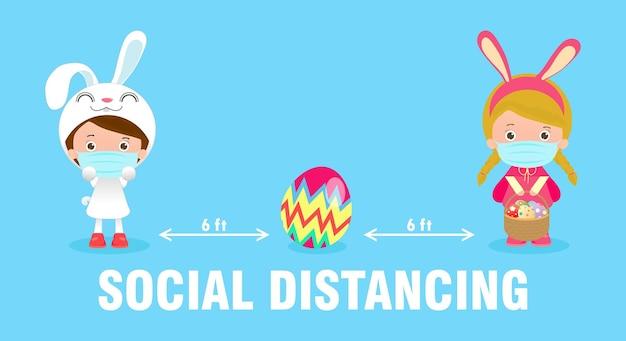 Buone uova di pasqua per nuove normali e sociali distanziate