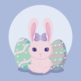 Buona pasqua coniglio con uova