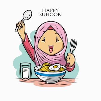 Felice di mangiare suhoor