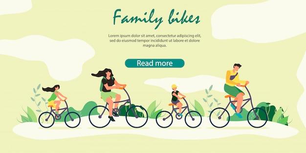 Famiglia felice stile di vita sano, attività sportiva all'aperto.