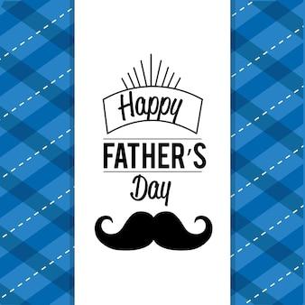 Carta felice giorno padre con design baffi