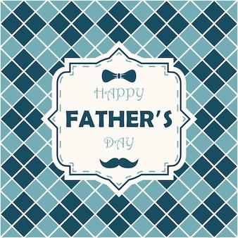 Biglietto di auguri per la festa del papà felice per il modello di papà per la cartolina dell'insegna del manifesto