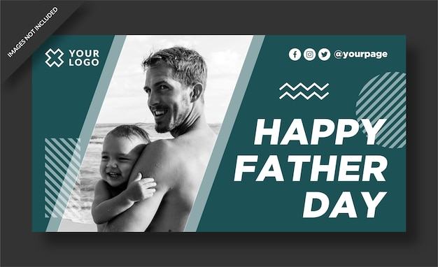 Felice giorno del padre poster design