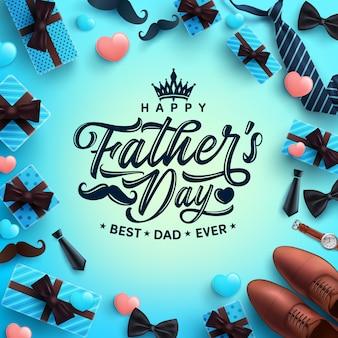Felice festa del papà saluti celebrazione.