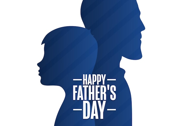 Buona festa del papà. concetto di vacanza. modello per sfondo, banner, carta, poster con iscrizione di testo. illustrazione di vettore eps10.