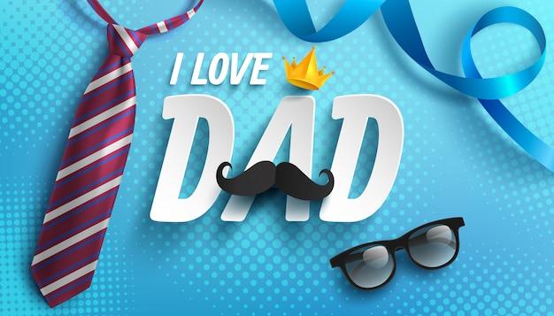Felice festa del papà illustrazione