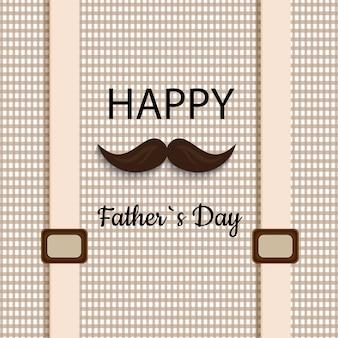 Illustrazione felice di vettore di festa del papà basata su testo alla moda su un fondo decorativo.