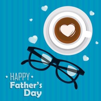 Carta di giorno di padri felice