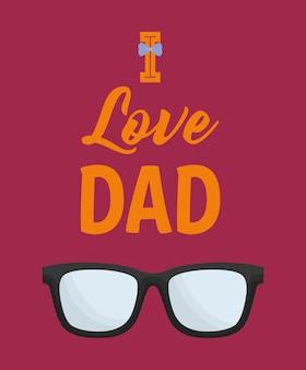 Disegno di giorno di padri felice