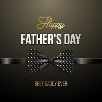 Cartolina d'auguri di felice festa del papà con elegante papillon.