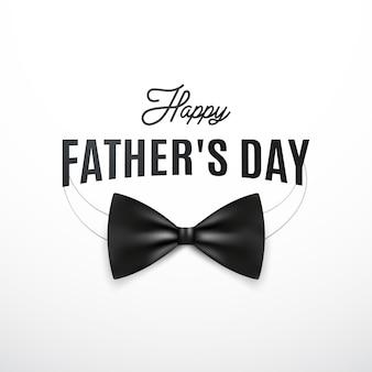 Cartolina d'auguri di felice giorno di padri con baffi retrò e il testo.