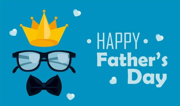 Cartolina d'auguri di felice festa del papà
