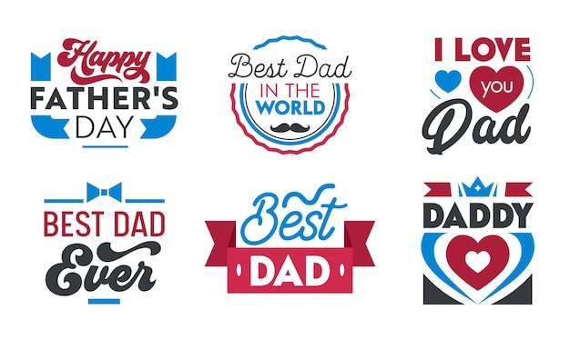 Collezione di lettere happy fathers day.