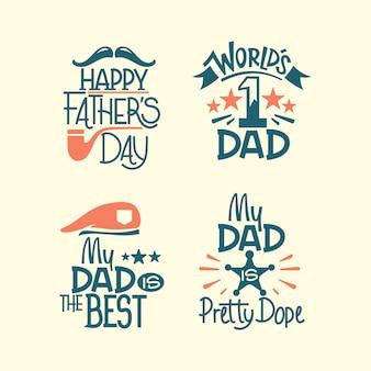 Set di lettere happy fathers day. mio padre è il migliore