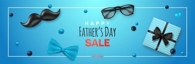 Bandiera di vendita felice giorno dei padri.