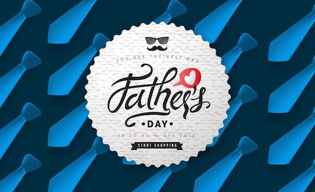 Vendita felice di giorno di padri