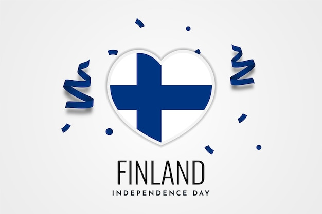 Felice finlandia independence day celebration illustration template design