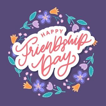 Biglietto di auguri per il giorno dell'amicizia felice per poster flyer banner per sito web modello carte poster logo v...