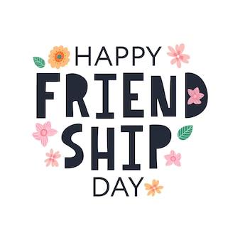 Cartolina d'auguri di buon giorno dell'amicizia per poster flyer banner per sito web modello carte poster logo