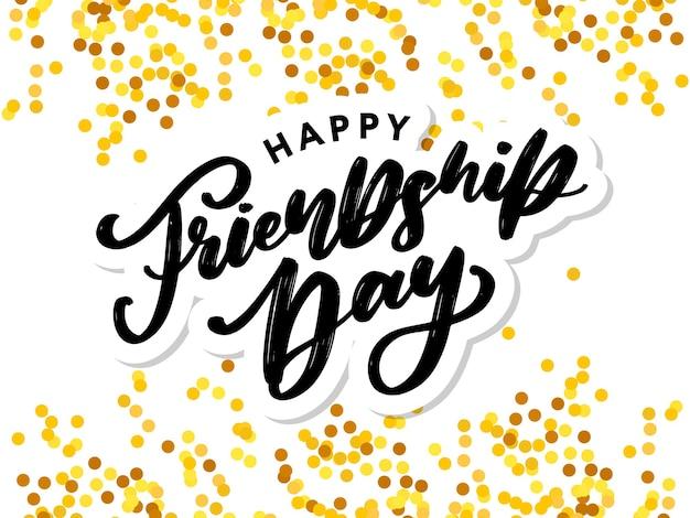Cartolina d'auguri di felice giorno dell'amicizia.