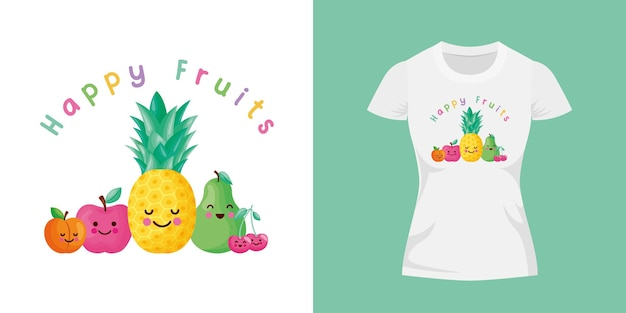 Disegno di frutti felici