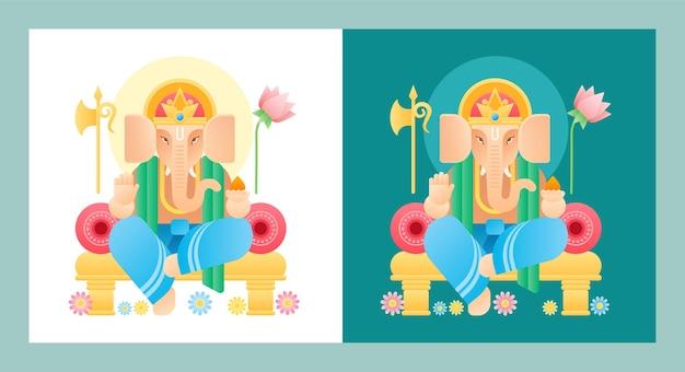 Felice modello di banner per social media celebrazione ganesh chaturthi