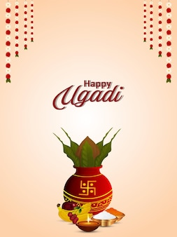 Fondo felice di celebrazione del festival indiano di gudi padwa