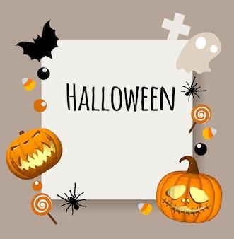 Fondo felice di halloween. posto per il tuo testo. area rettangolare per il testo.