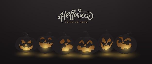 Felice banner di halloween o sfondo invito a una festa