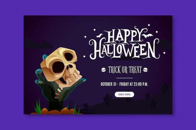 Felice banner di halloween
