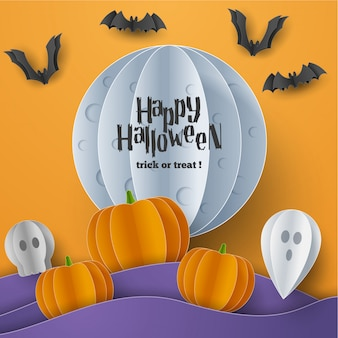 Banner di felice halloween