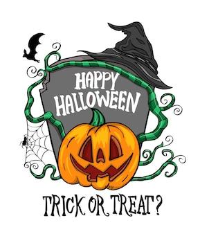 Happy halloween per la carta