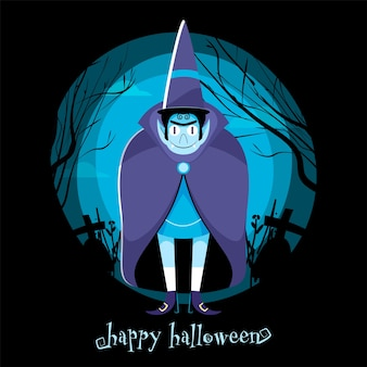 Felice festa di halloween poster design