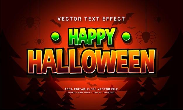 Happy halloween effetto stile testo modificabile fumetto con tema evento halloween