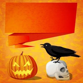 Felice banner carino di halloween