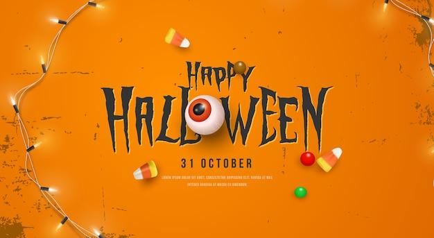 Iscrizione carina di halloween felice