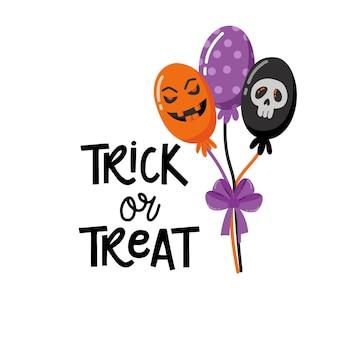Felice halloween. scheda creativa disegnata a mano. design per biglietti di auguri e inviti per le vacanze, volantini, poster, banner vacanze di halloween