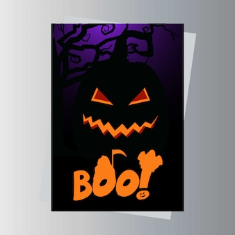 Happy halloween biglietto d'invito design