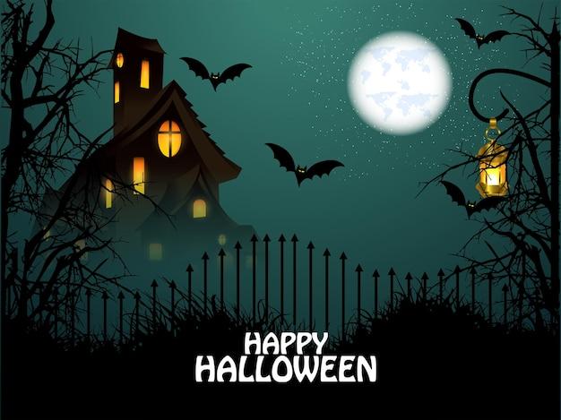 Biglietto di auguri per l'invito di halloween felice